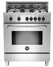 Bertazzoni MAS304DFSXT Master Series 30 Inch Pro Style Dual Fuel Range Stainless