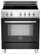 Bertazzoni PRO304INSNE Pro Series 30  Freestanding Induction Range in Nero Black