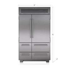Sub Zero 48  Built in Refrigerator in Stainless Steel  648PRO