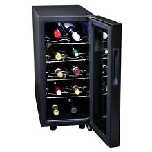 Koolatron KWT10BN Black 10 bottle Wine Cooler