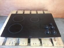 Whirlpool Black Electric Cooktop with Bridge Element GJC3034RB06