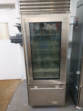 GLASS DOOR Sub Zero 30  Built in Bottom Freezer Refrigerator