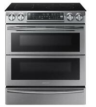 Samsung NE58K9850WS 5 8 Cu  Ft  Electric Smart Range with Convection