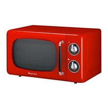 Red Countertop Microwave Oven Retro Style 0 7 Cu Ft Kitchen Cook Warm Food 700W