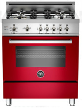 Bertazzoni PRO304GASROLP Professional Series 30  Pro Style LP Range in Red