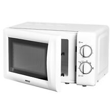 Pifco 20L Kitchen Countertop Microwave Oven White 700W 6 Power Levels Manual