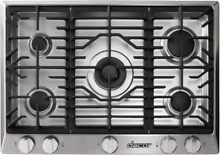 Dacor RNCT305GSNG Renaissance 30 Inch Gas Cooktop in Stainless Steel 5 Burners