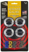 Stanco 4 Pack Universal Electric Range Stove Knobs  Black