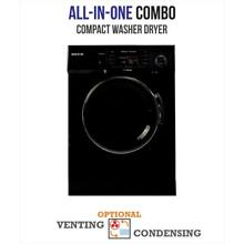 Deco All in one Compact Washer and Dryer with Sensor Dry Feature in Black