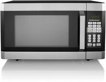 Microwave Oven 1 6 Cu  Ft  Stainless Steel LED Display With Child Safe Lockout