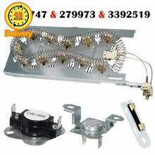 3387747  279973  3392519 Dryer Heating Element Thermal Cut Off Kit with Thermi