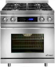Dacor DR30DNG Distinctive 30 Inch Pro Style Dual Fuel Range in Stainless Steel
