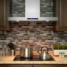 AKDY RH0242 36  Stainless Steel Wall Mount Powerful Range Hood Kitchen Stove