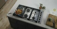 Jenn Air 36  Stainless Steel 6 Burner Gas Cooktop Stove Counter Top JGC7636BP