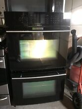 Jenn Air 30  Electric Double Wall Oven Black w  Stainless Handles Excellent