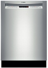 Bosch SHE65T55UC 500 Series Full Console Dishwasher in Stainless Steel Built In