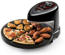 Presto Rotating Countertop Oven Pizza Rotating AutoElectric Cooker Machine Black