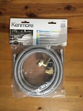 New KENMORE Stainless Steel Dishwasher Connector Kit  8Ft  13000