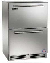 Perlick HP24RS35 24  Built in Under counter Refrigerator Drawers Stainless Steel