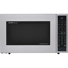 Sharp SMC1585BS 1 5 Cu  Ft  900W Convection Microwave Oven  Stainless Steel