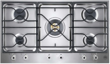 Bertazzoni PM36500X 36  Segmented Gas Professional Cooktop in Stainless Steel