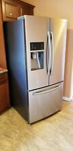 Samsung 33 in  W 25 5 cu  ft  French Door Refrigerator in Stainless Steel