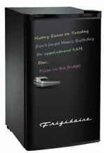 Refrigerator Storage Cooler w  Eraser Board Fridge 3 2 cu ft Black Compact Home