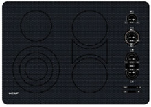 Wolf CT30EU 30in  Electric Smoothtop Cooktop in Black