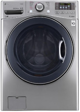 LG WM3770HVA 27 Inch Front Load Washer with Steam in Graphite Steel