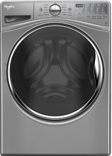 Whirlpool WFW92HEFC 27  4 5 cu  ft  Front Load Washer w Load   Go Chrome Shadow
