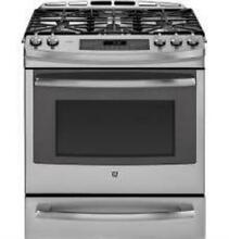 GE Profile 30 In  SS Free Standing Single Oven Gas Convection Range PCGS920SEFSS