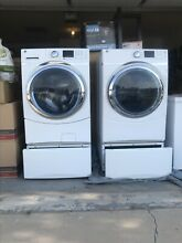 GE Gfds170gh1ww Gas Dryer and GE Gfws1700h0ww Washer