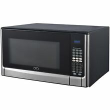 Oster OGYZ1604VS 1 6 Cubic Foot Black and Stainless Steel Microwave