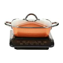 Copper Chef Induction Cooktop with 11  Casserole Pan  Assorted Colors