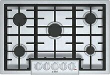 Bosch 800 Series 30  Stainless Steel 5 Burner Gas Cooktop Natural Gas or LP