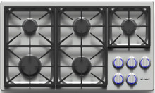 Dacor DYCT365GSNG Discovery 36  Gas Cooktop Stainless Steel 5 Sealed Burners
