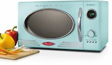 Stylish Teal Blue Retro 0 9 Cubic Foot Microwave Oven Kitchen Appliance  Aqua