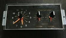 Whirlpool Stove Oven Clock Timer 661458 with Glass and Knobs  311262  312802
