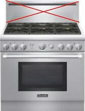 Thermador 36  SS 6 Sealed Star Burners Pro Style Natural Gas Range PRG366GH