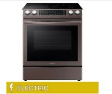 Samsung 5 8CuFt Slide in ELECTRIC Range with Dual Convection in Tuscan Stainless