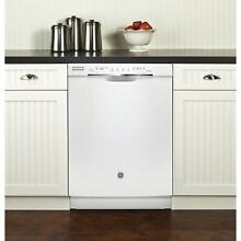 GE Plastic and Stainless Steel Full Console Dishwasher White