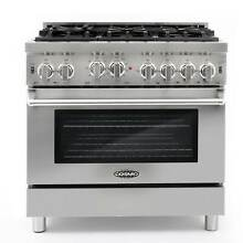 Commercial Style 36 In  4 5 Cu  Ft  Gas Range with 6 Italian Burners and Heavy
