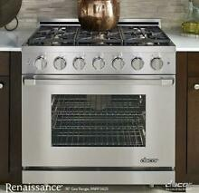 Dacor Renaissance 36  6 Sealed Burners Freestanding SS LP Gas Range RNRP36GSLP