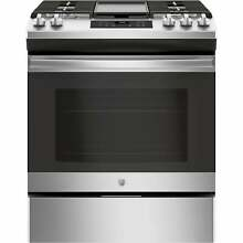 GE 30  Slide In Front Control Gas Range   Stainless Steel