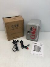 New Diet Coke Thermoelectric Mini Personal 6 Can Cooler DC04 Travel Or Home