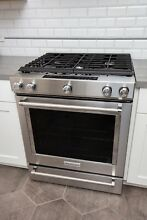 KitchenAid 30  Gas Range  Slide In Convection Oven  Stainless Steel   KSGG700ESS