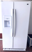 MAYTAG SIDE BY SIDE REFRIGERATOR FREEZER FRIDGE WHITE LOCAL PICKUP ONLY MIAMI FL