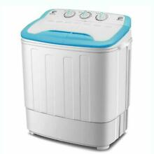 Mini Washing Machine Portable Twin Tub Washer And Spin Dryer Combo 13Lbs For Dor