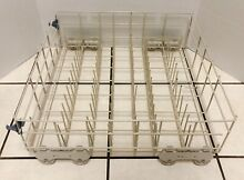 Whirlpool Dishwasher Lower Dish Rack with Rollers W10161215 Genuine Whirlpool