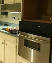 GE 24 Inch Electric Single Wall Oven in Stainless Steel   Self Cleaning